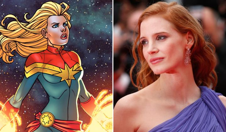 Jessica Chastain Captain Marvel