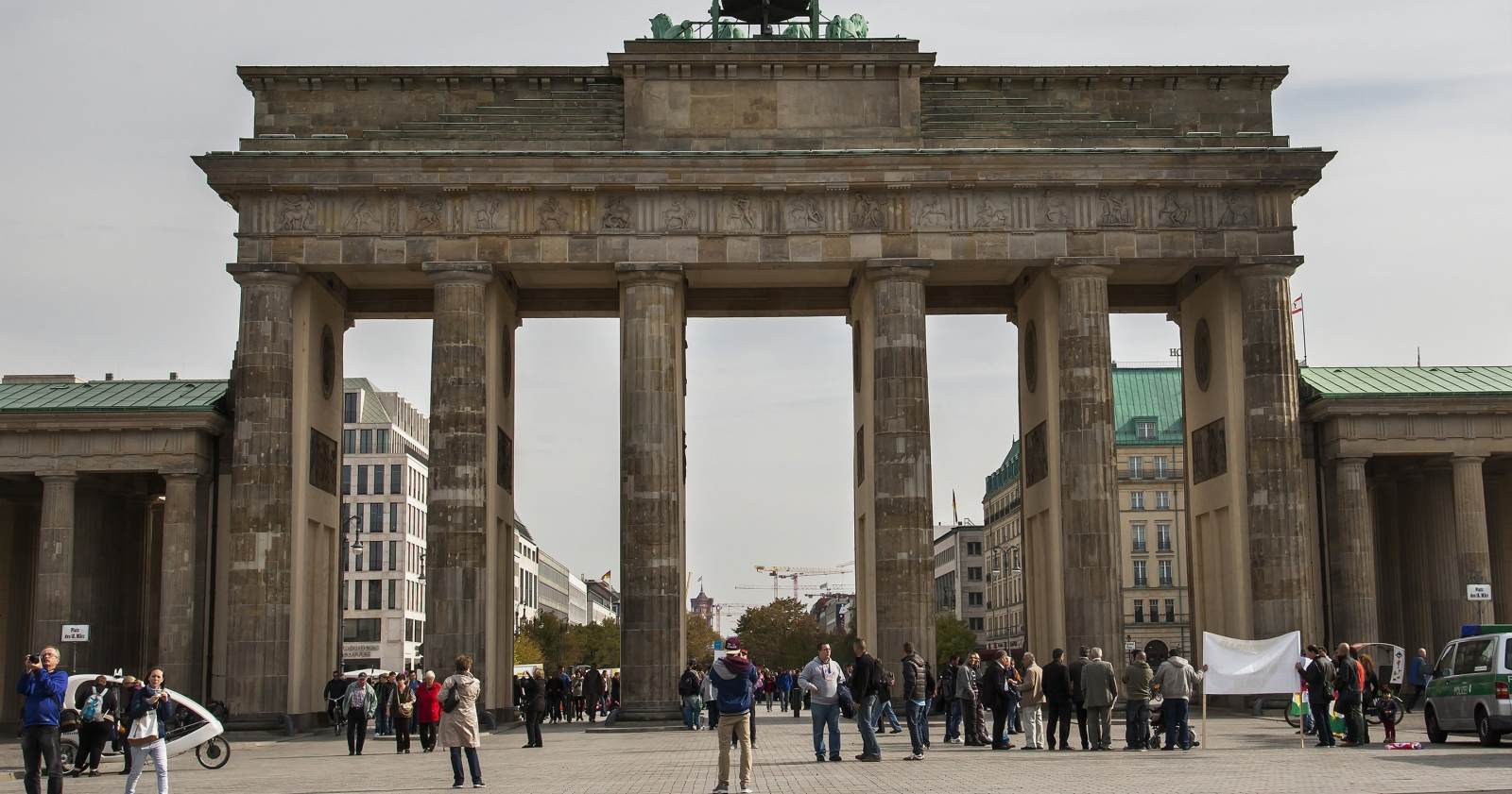 Berlin Wall then and now