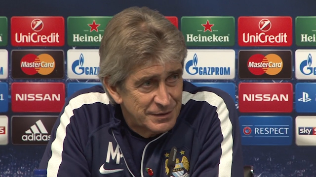 Manuel Pellegrini on CSKA Moscow Champions League Match