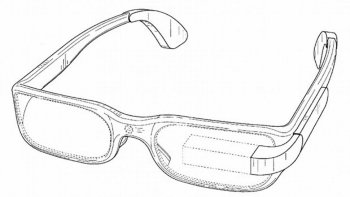 The patent for Google Glass that features the prism over the left eye, filed by Google in 2012