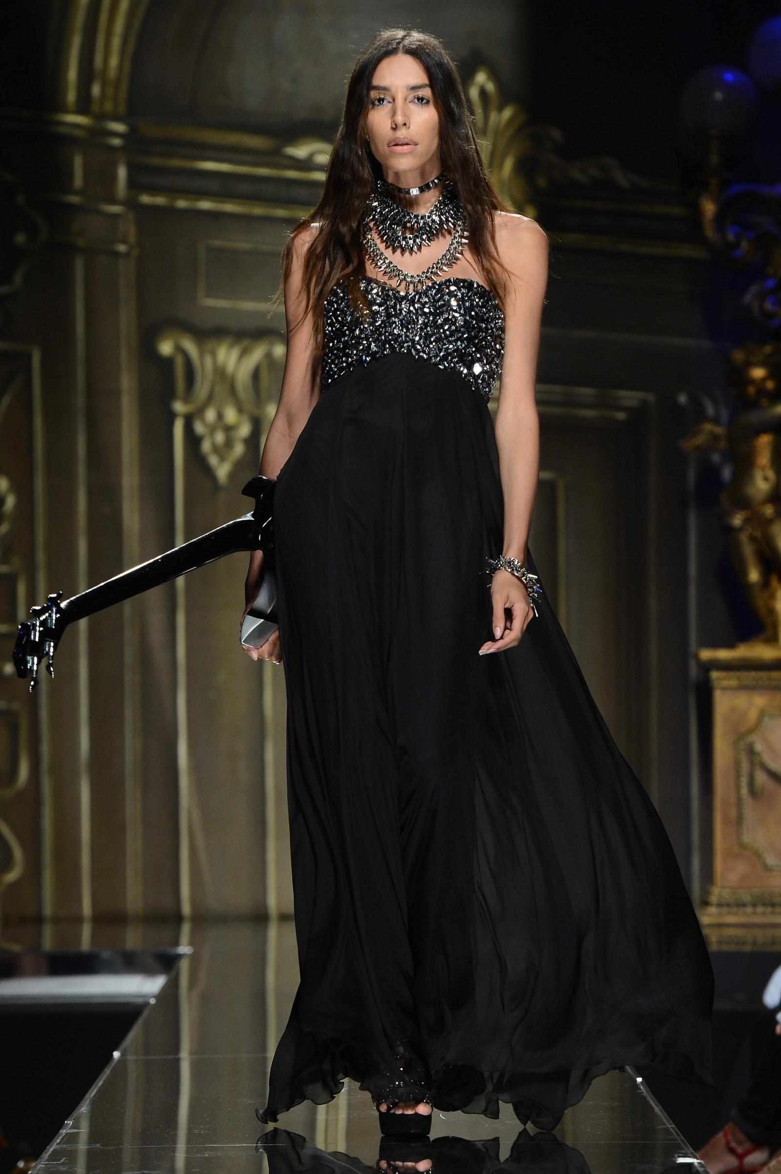 Model Lea T at the  Milan Womenswear Fashion Week