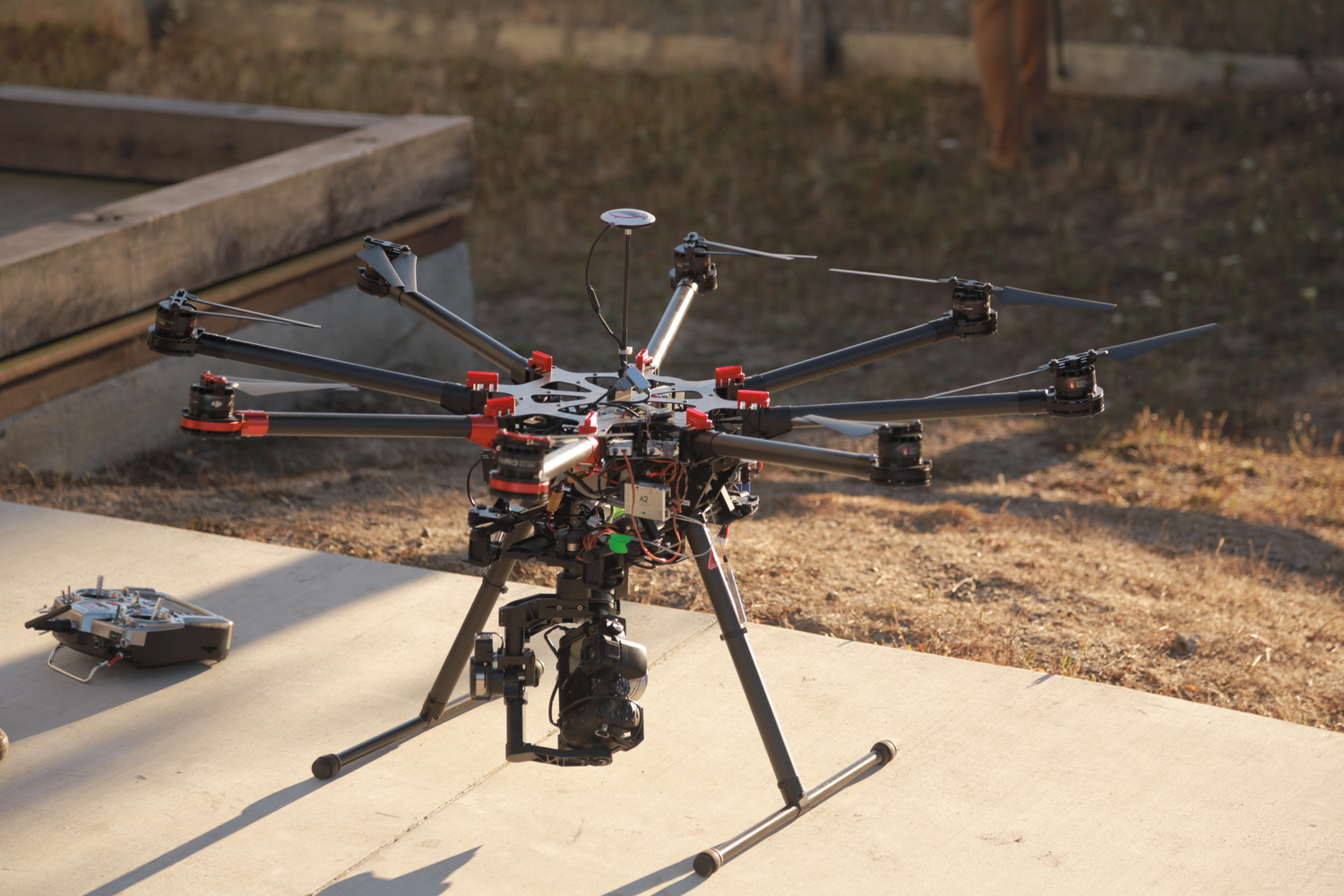 The eight rotor helicopter drone used to film Drone Boning
