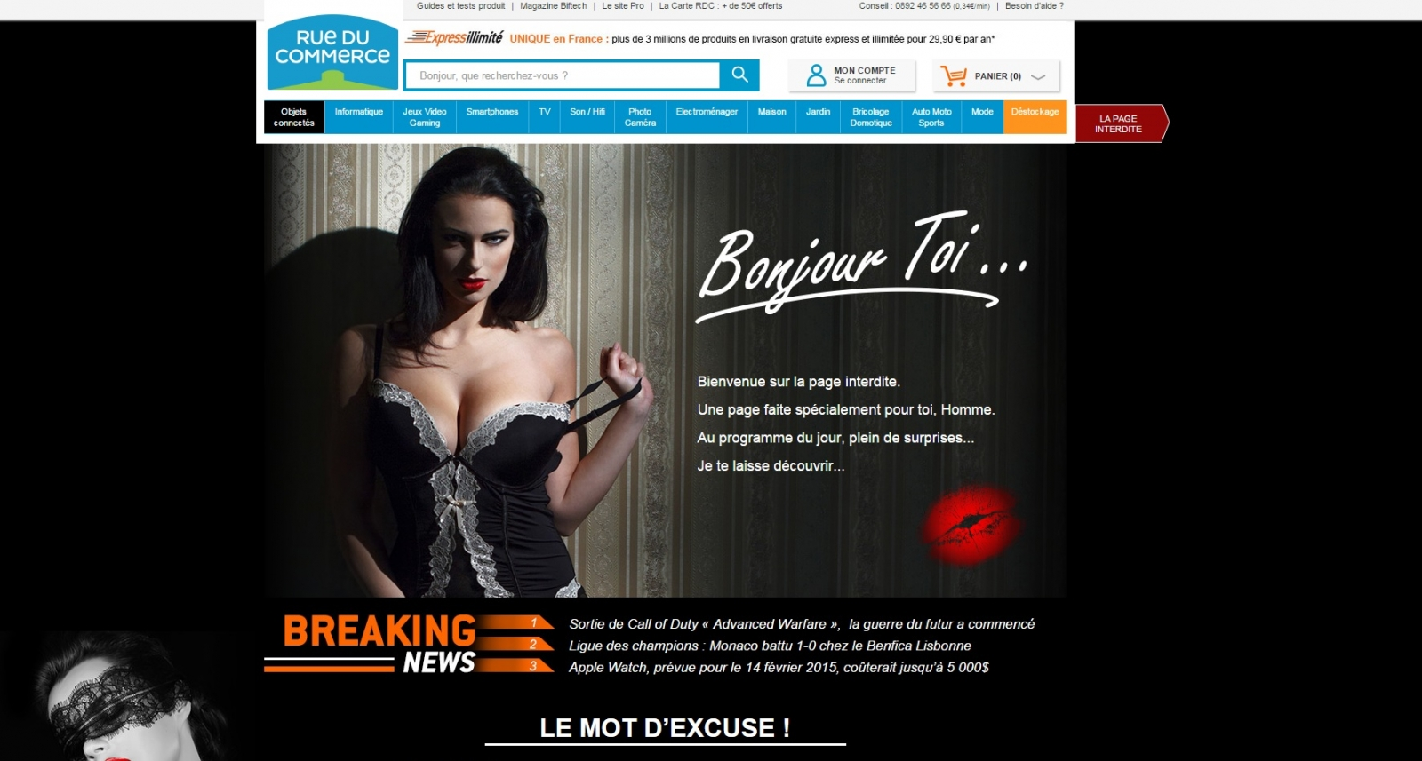 Rue du Commerce: French E-Commerce Company Bans Women in 'Sexist' Ad Campaign