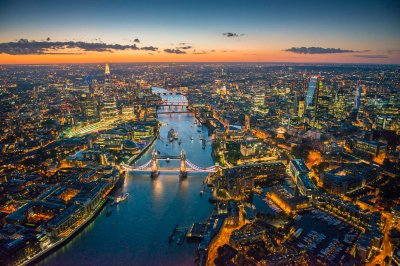Jason Hawkes Tower Bridge and the River Thames, with the City of London