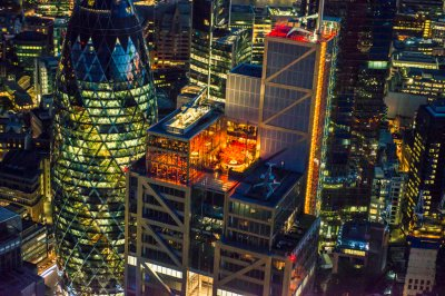 jason hawkes Duck  Waffle and Sushisamba restaurants on top of Heron Tower