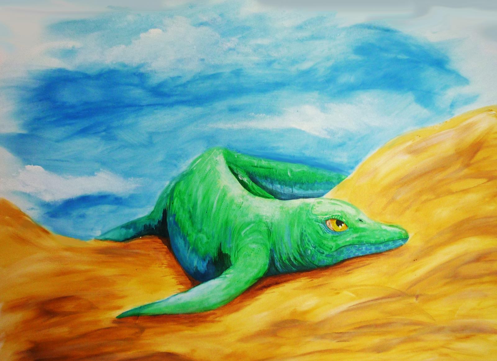 Amphibious Ichthyosaur
