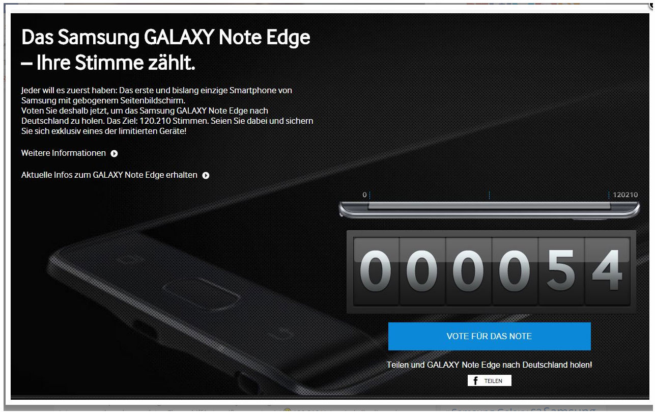 Samsung Galaxy Note edge Will be Released in Germany, Only If You Vote For it