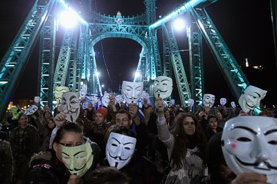 million mask march budapest