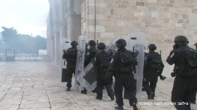 Israeli Police Release Video of al-Aqsa Clashes