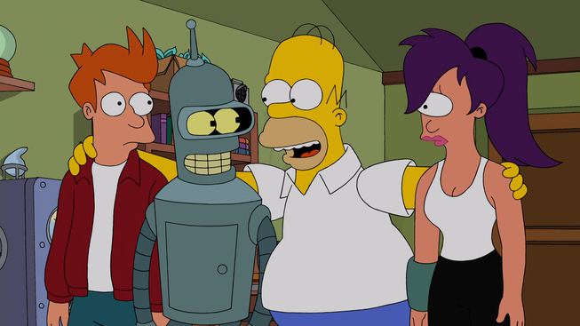 Futurama simpsons crossover episode latino dating 9
