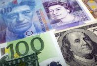 Euro, pound and dollar