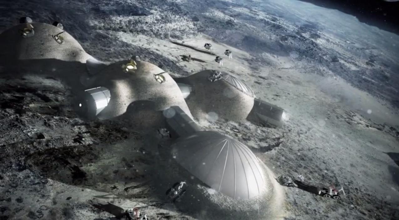 European Space Agency 3D Print lunar base