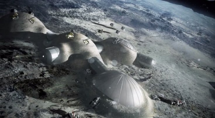 European Space Agency 3D Print lunar base
