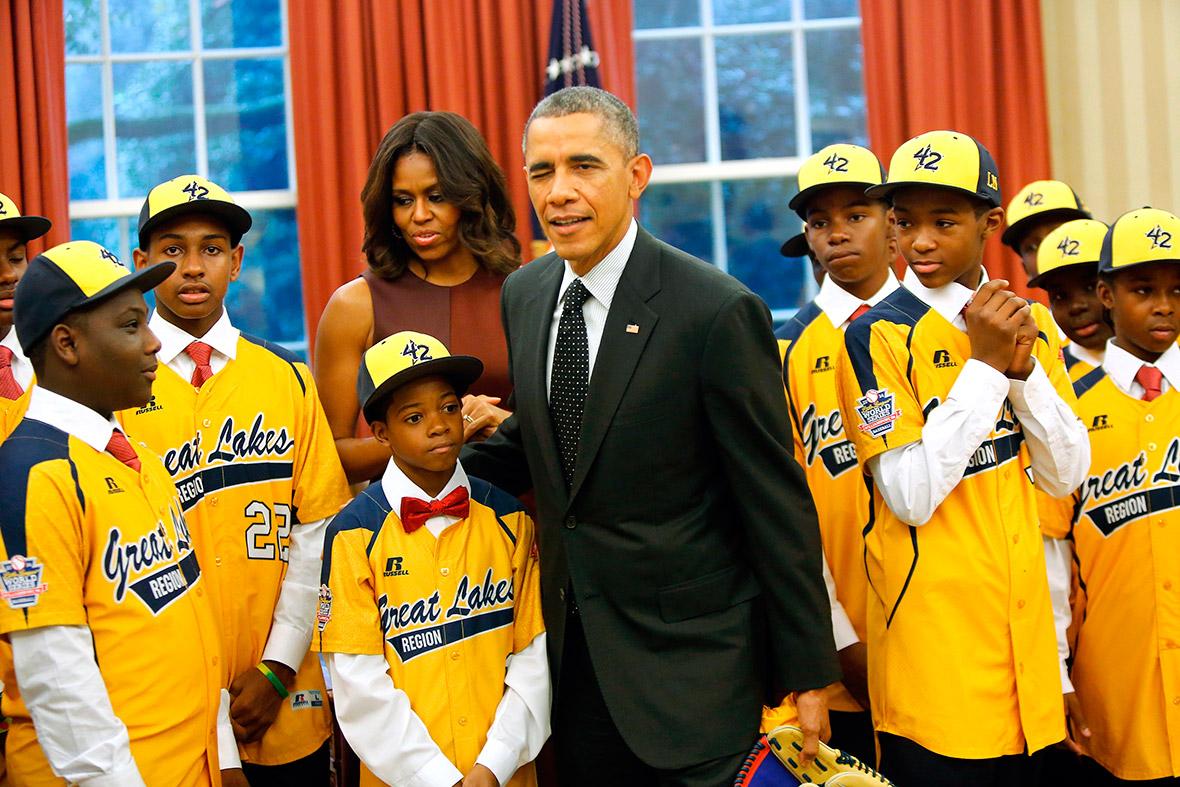 obama baseball