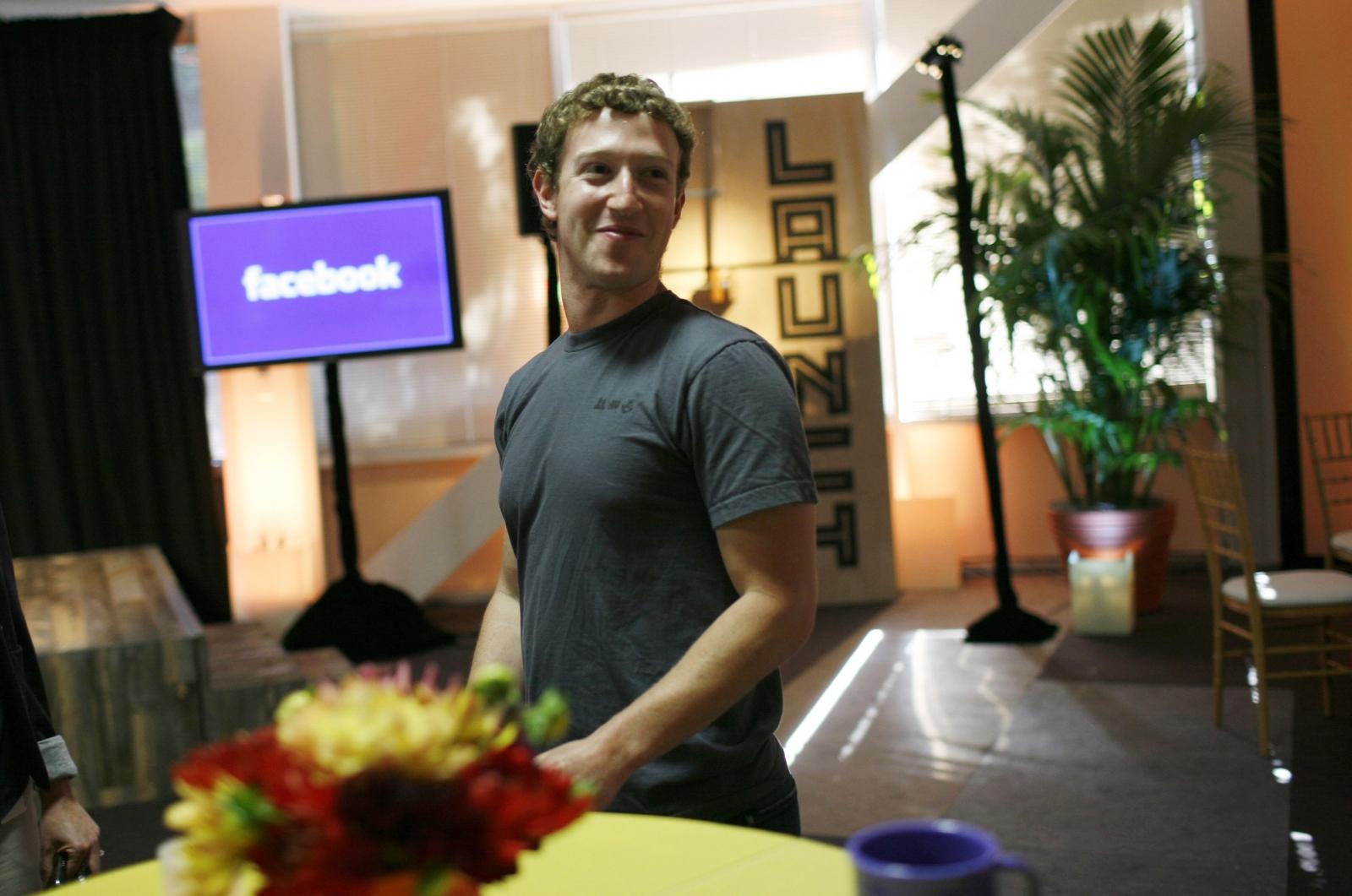 Facebook CEO Mark Zuckerberg in a grey T-shirt (again)