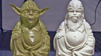 Zen Yoda and Zen Chewbacca - Sci-Fi toys 3D-printed and sold on Etsy by inventor/designer Chris Milnes