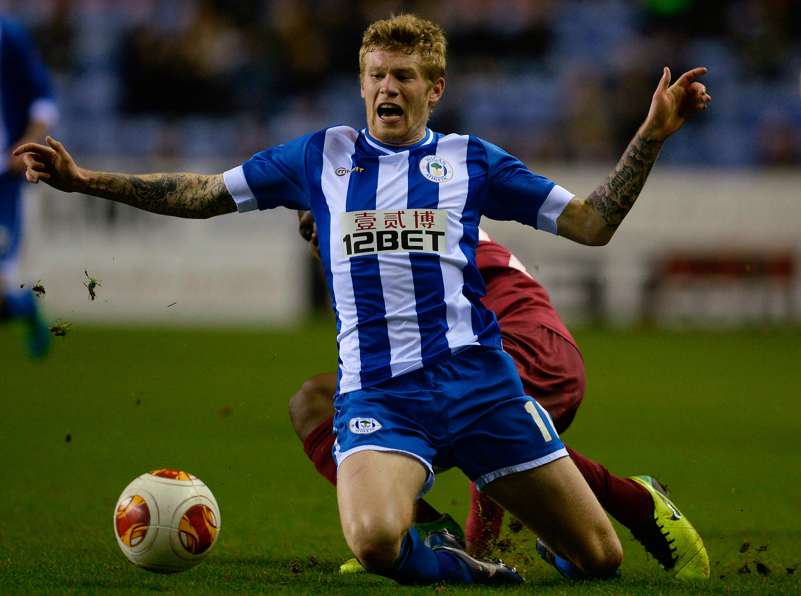 James McClean playing for Wigan