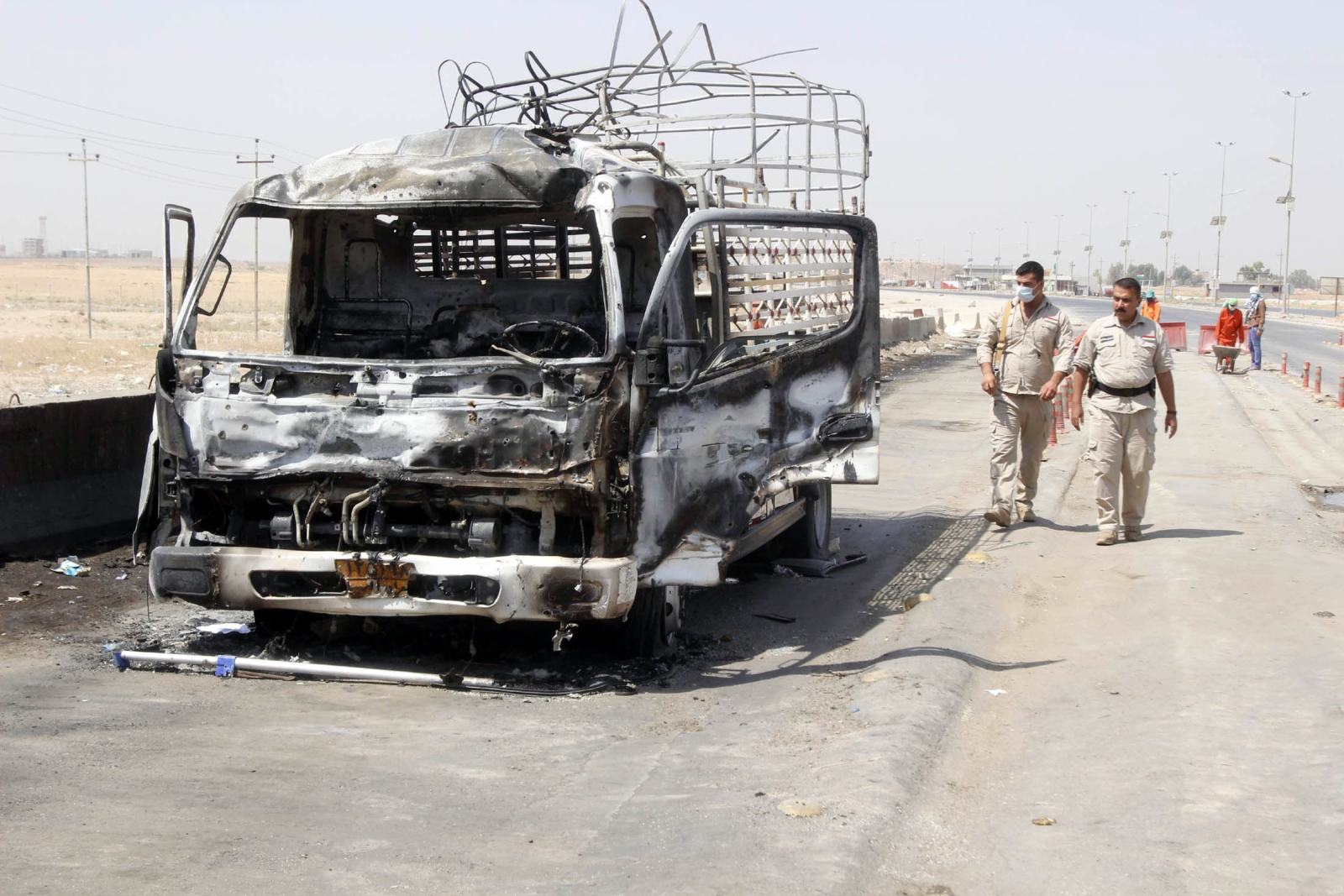 A Briton had reportedly died in a blast that rocked the town of Baiji  in northern Iraq