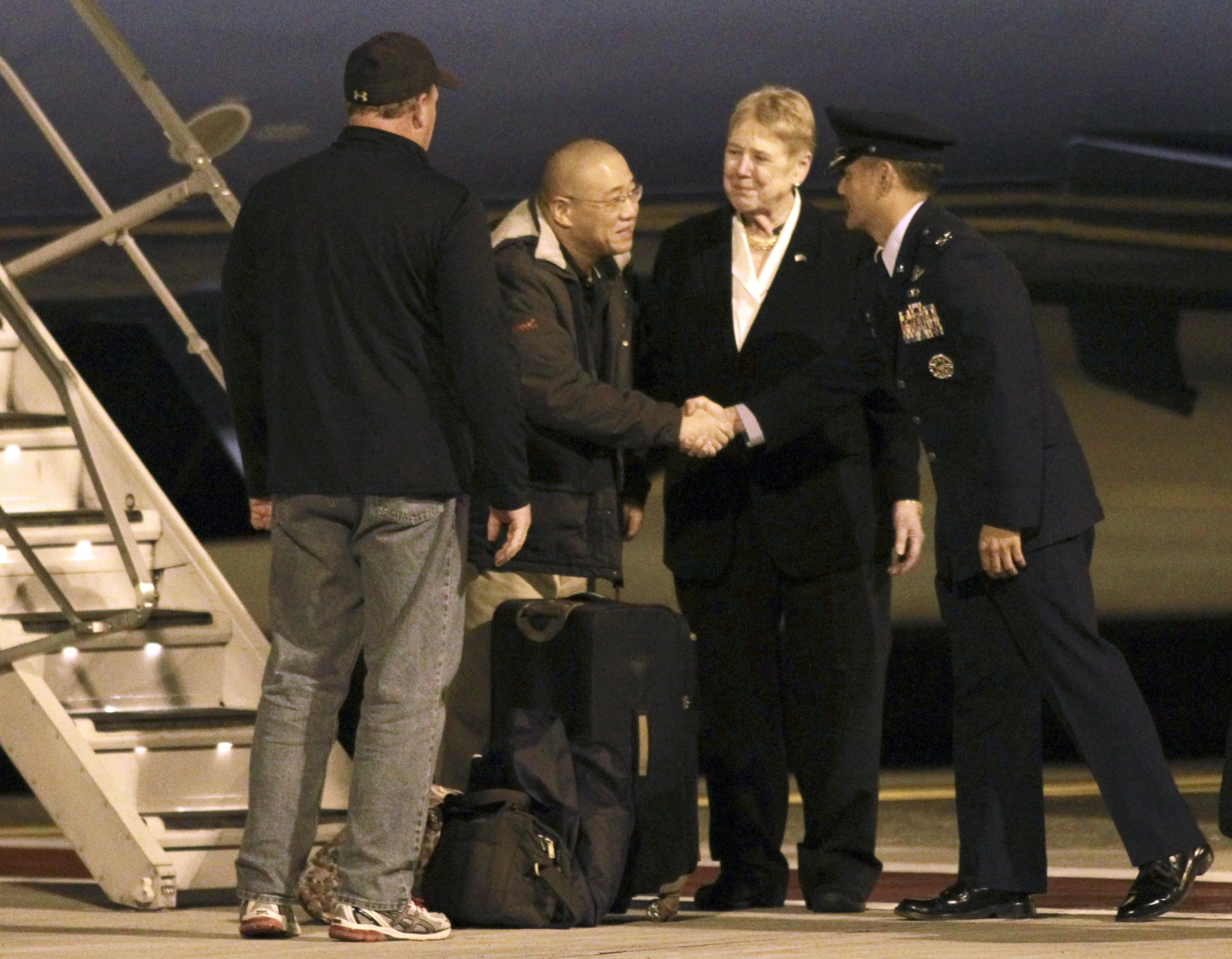 Two Americans Freed by North Korea Land in US
