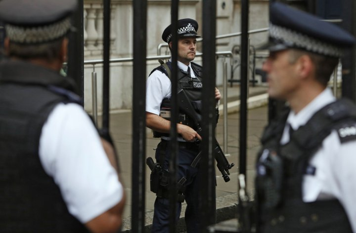 Armed police presence has been stepped up as terror threat raised to 'severe'