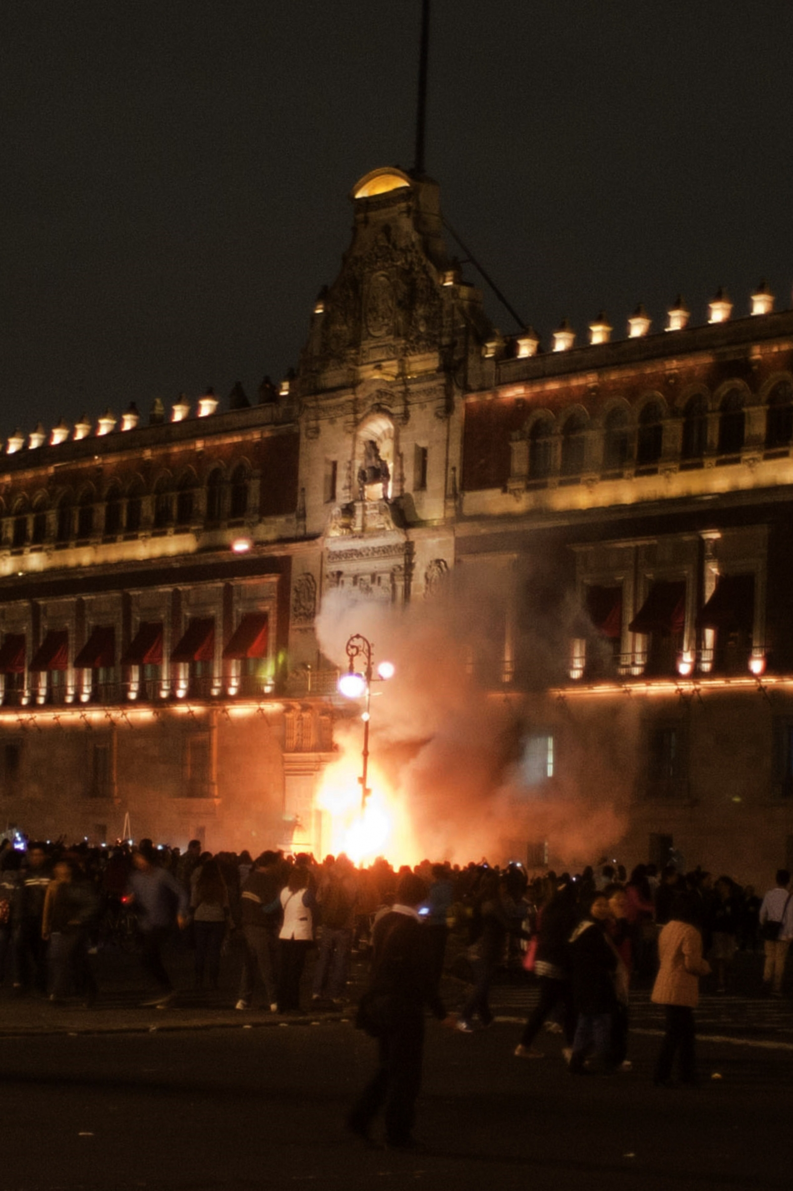 Protesters attempt to storm Mexico's National Palace last night (Getty)