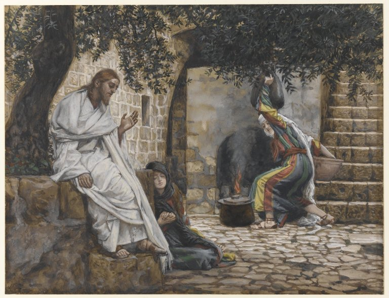 Mary Magdalene at the Feet of Jesus by James Tissot