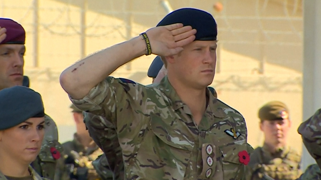 Prince Harry Marks Remembrance Sunday in Afghanistan