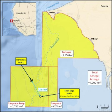Cairn Energy Oil Map
