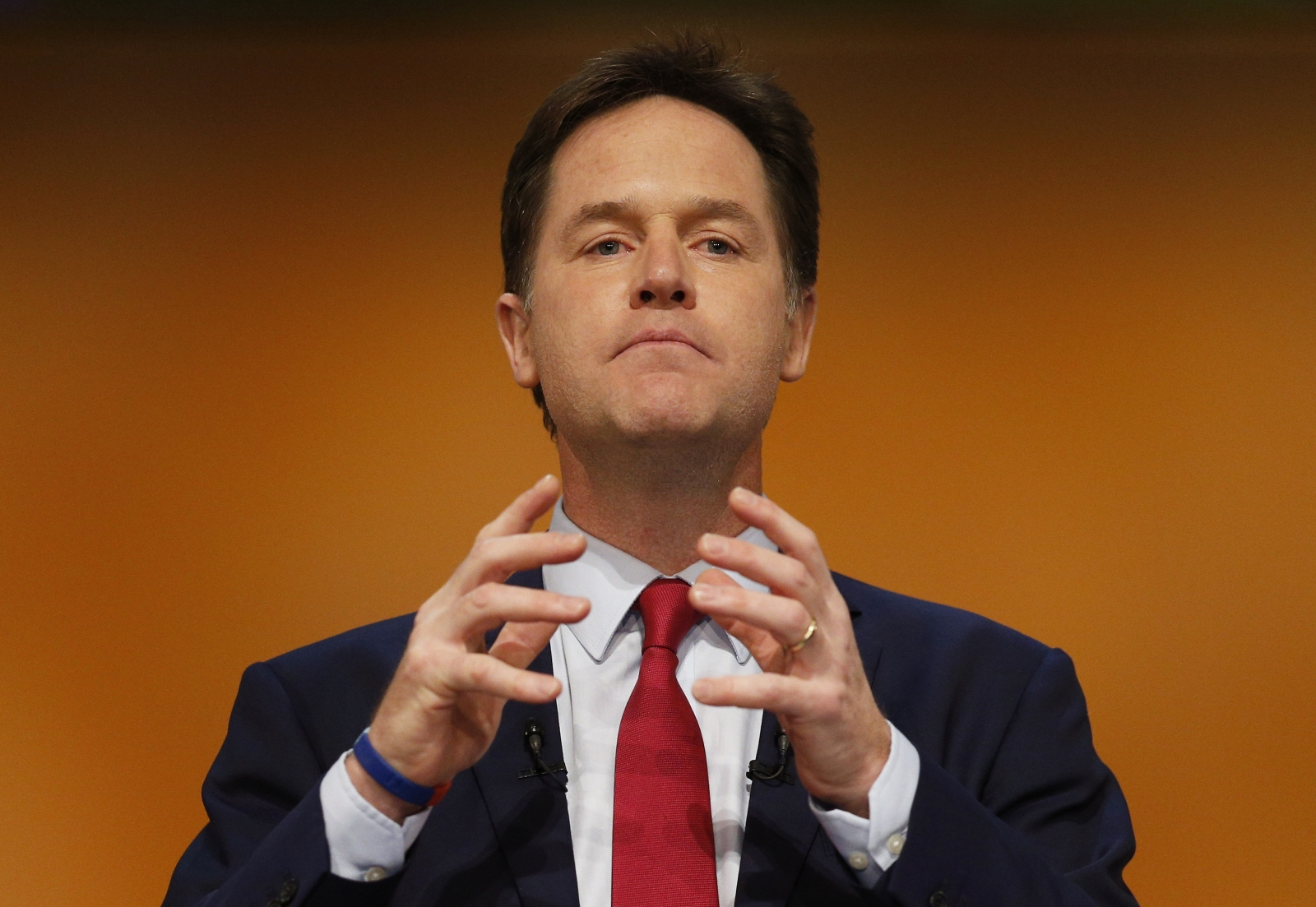 Britain's Deputy Prime Minister, and leader of the Liberal Democrats, Nick Clegg