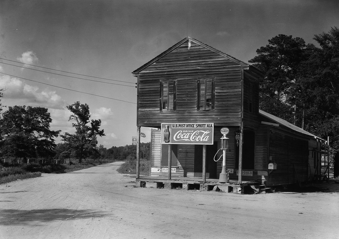 Walker Evans, Crossroads Store, Post Office, Sprott, Alabama, USA, 1936