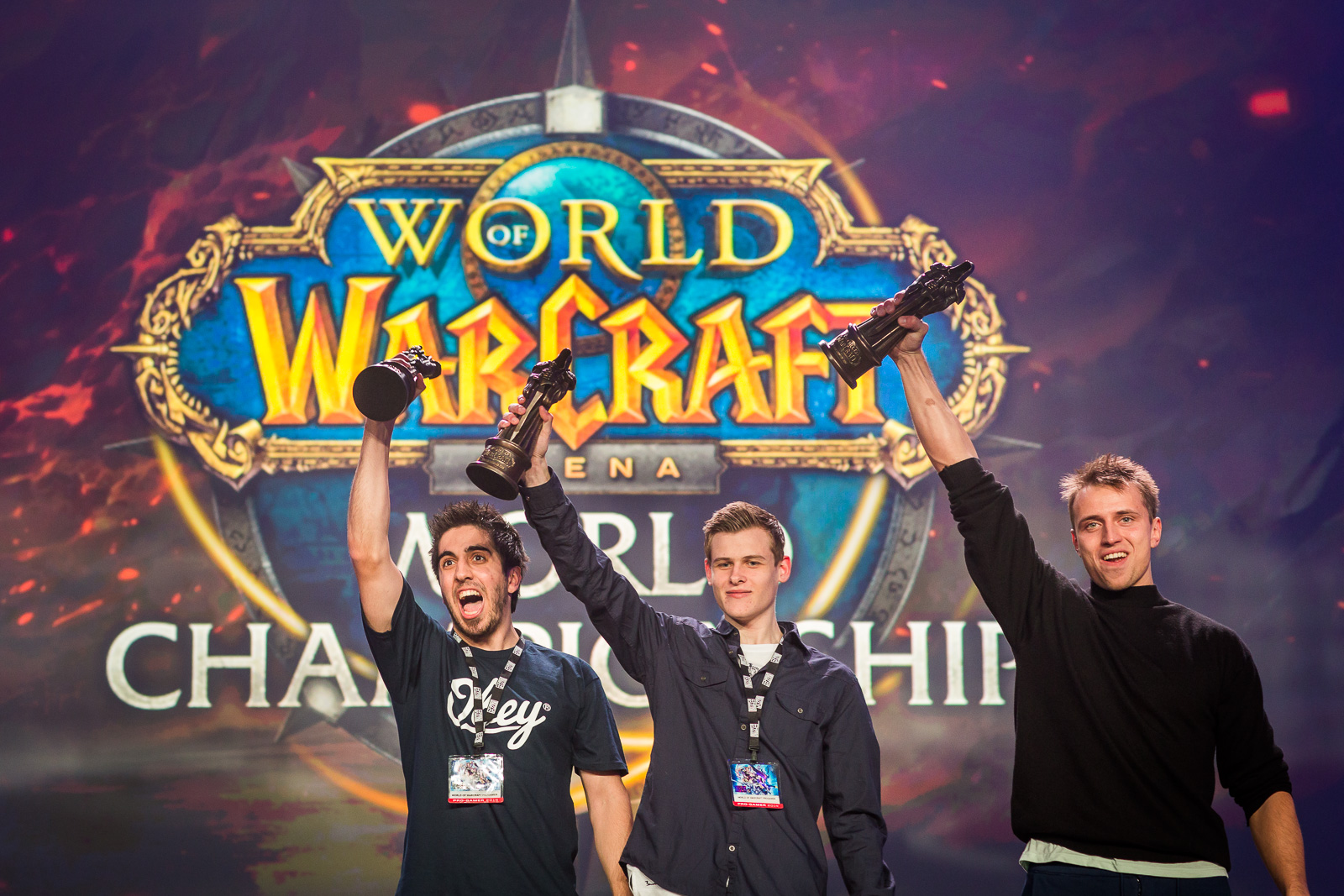 Team Bleached Bones victorious in the World of WarCraft Arena Championship 2014 (L-R): Anton