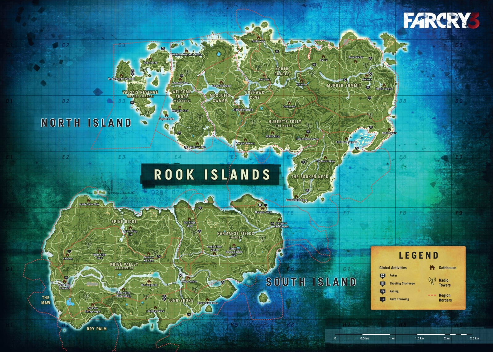 Far Cry 5 Full Map: Far Cry 4: Leaked Map Reveals Full Extent Of Kyrat
