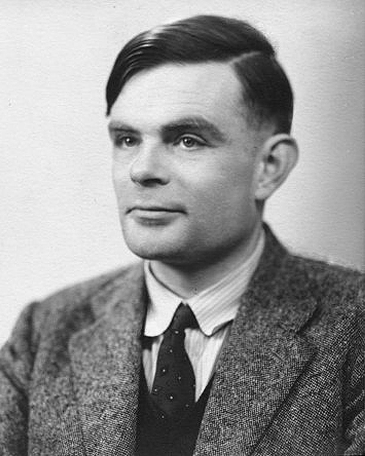 Alan Turing, a talented mathematician and the father of modern computing, who was instrumental in cracking cracking intercepted coded messages from the Nazis
