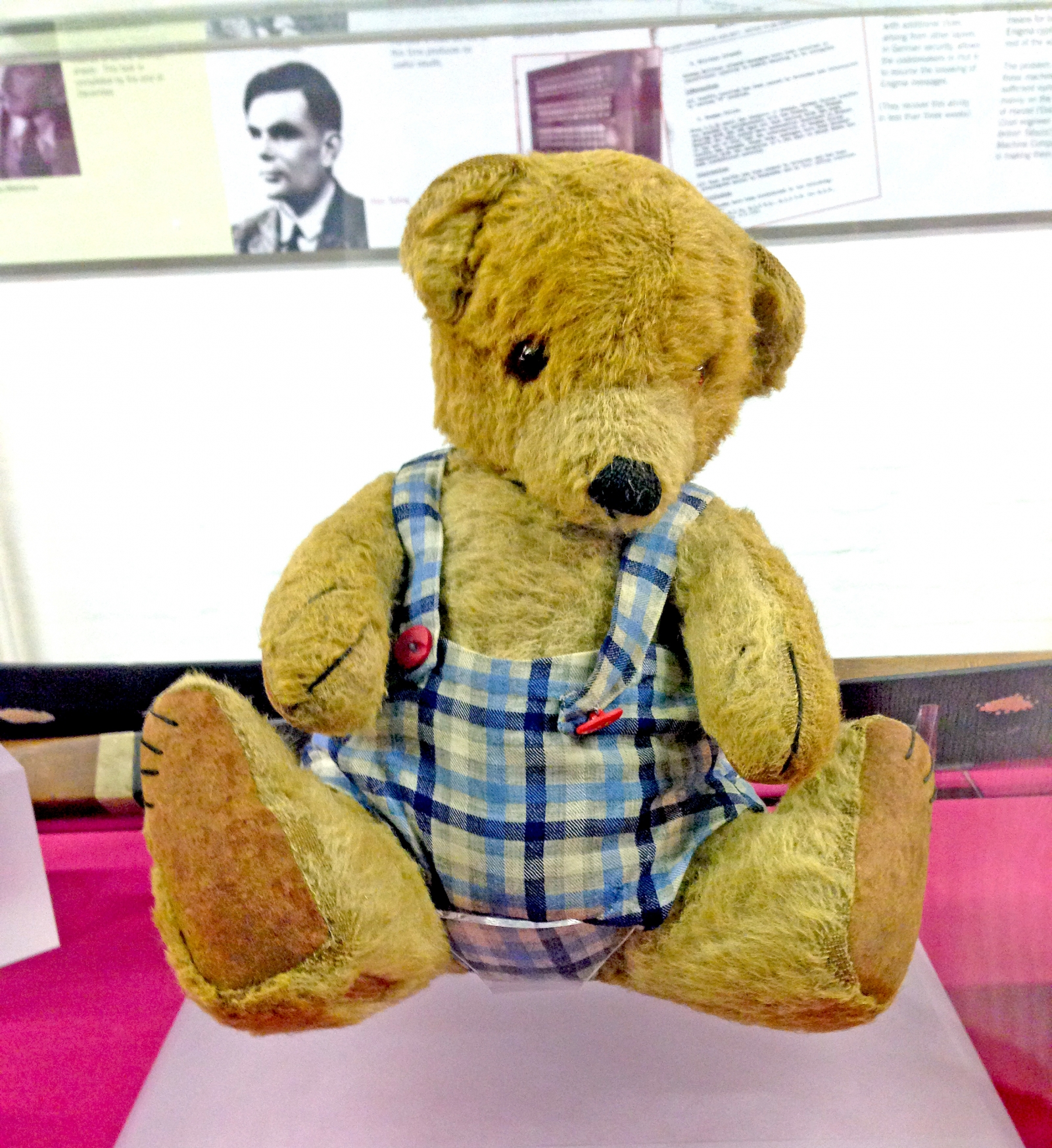 Alan Turing's teddy bear Porgy, whom he used to practice his speeches on
