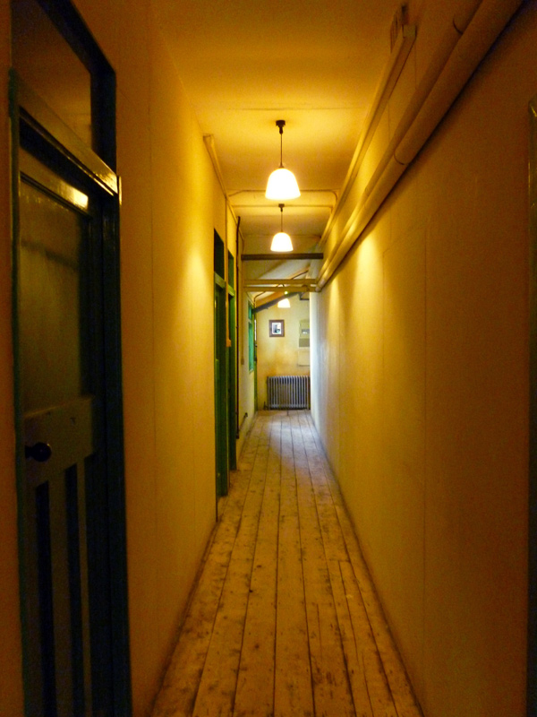 A corridor in one of the Huts at Bletchley Park