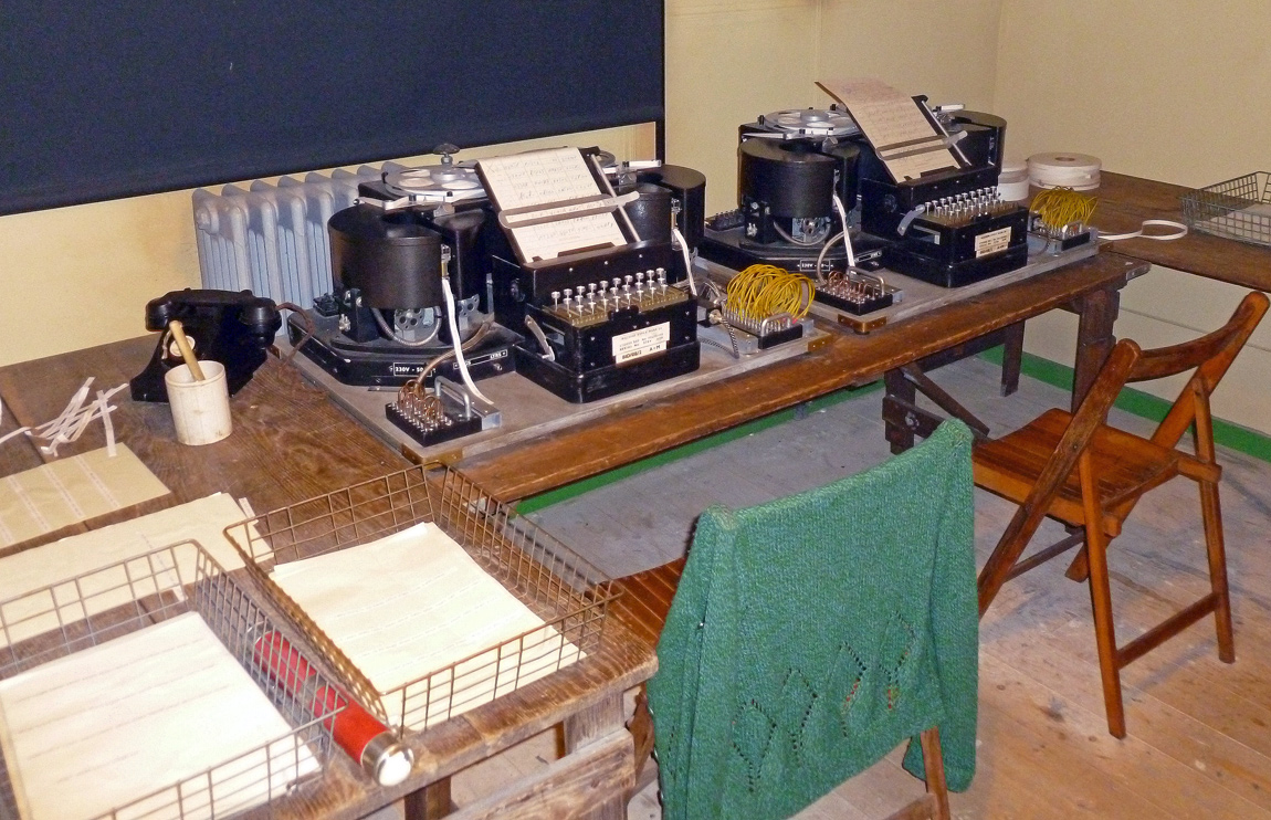 TypeX Machines used in Hut 3 to decode messages. Operators would feed messages with the correct Enigma settings into the machines