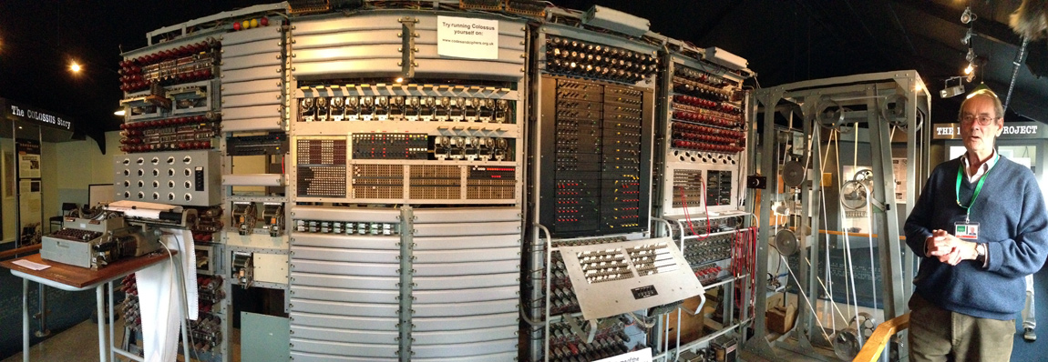 An iPhone panorama shot of the Colossus, which shows the scale of the world's first programmable digital electronic computer
