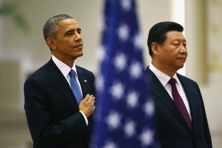 US-China climate change announcement in Beijing