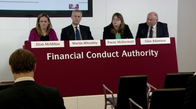 FCA speaks to reporters following the announcement that it fined 5 banks £1.1bn for FX rigging