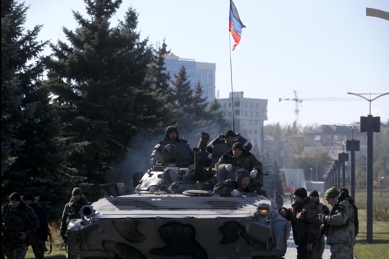 Ukraine War Russian Tanks Donetsk