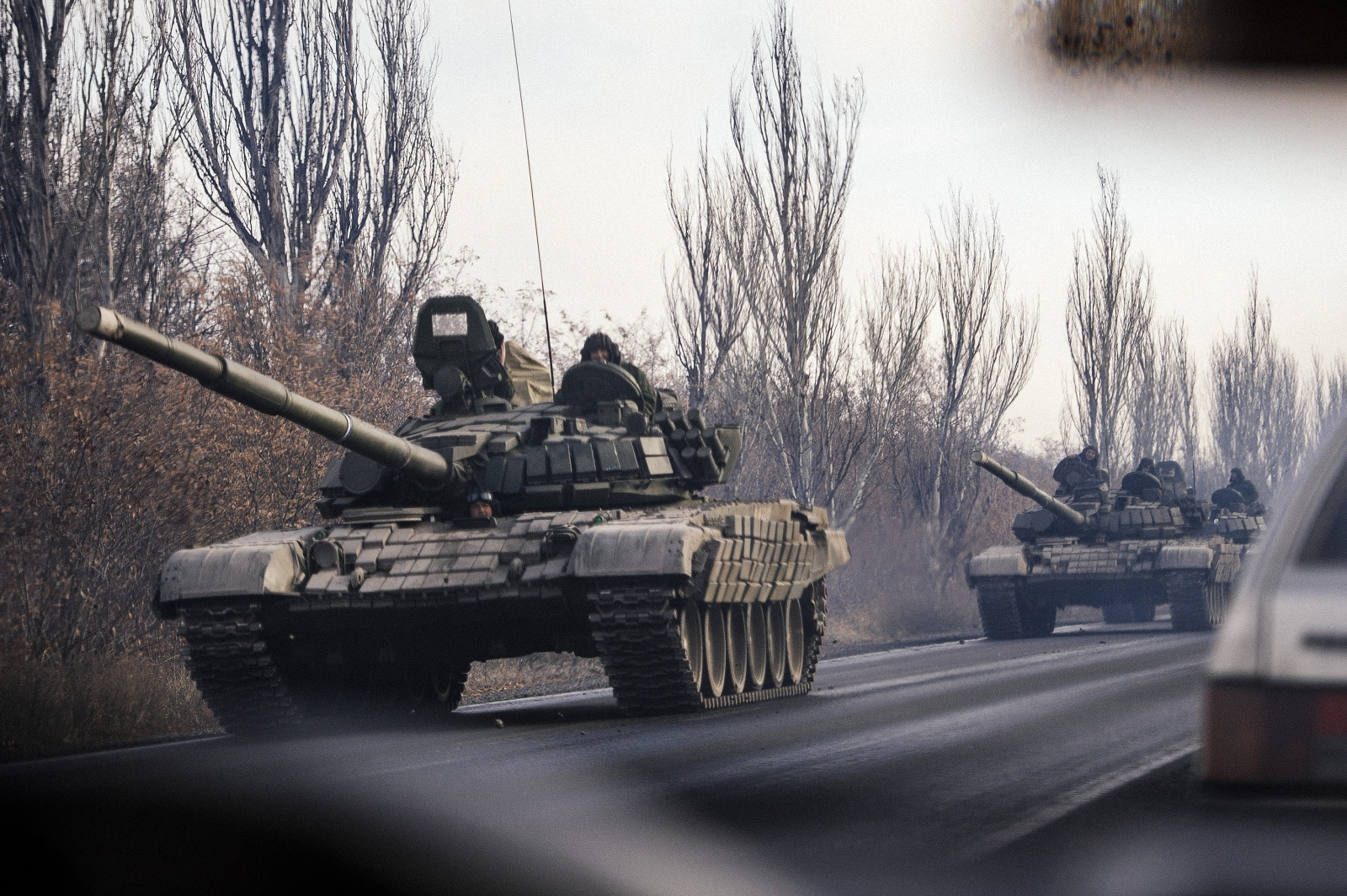 Russian Tanks Troops Ukraine