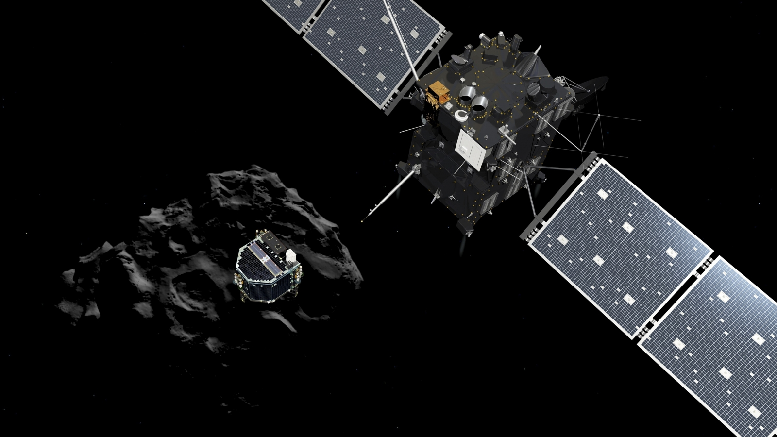 ESA's Rosetta Spacecraft Comet Landing: Probe 'Is on the Surface and Talking'