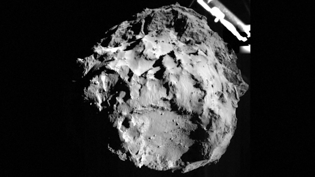 Philae Probe Releases First Image from Landing