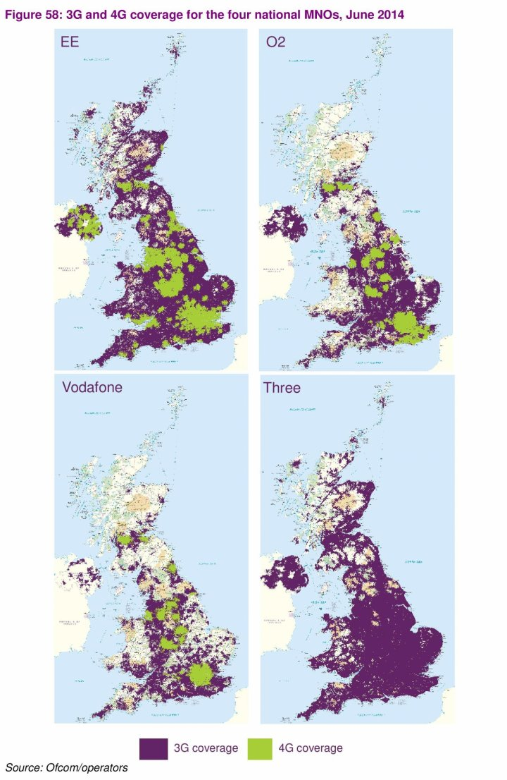 UK Mobile Broadband Network Coverage 3g 4g Ofcom