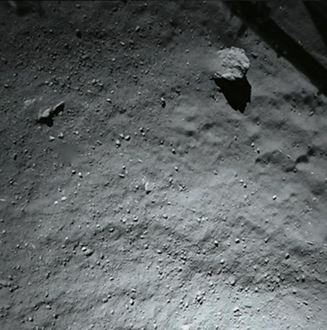 comet landing surface