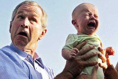 george w bush crying baby