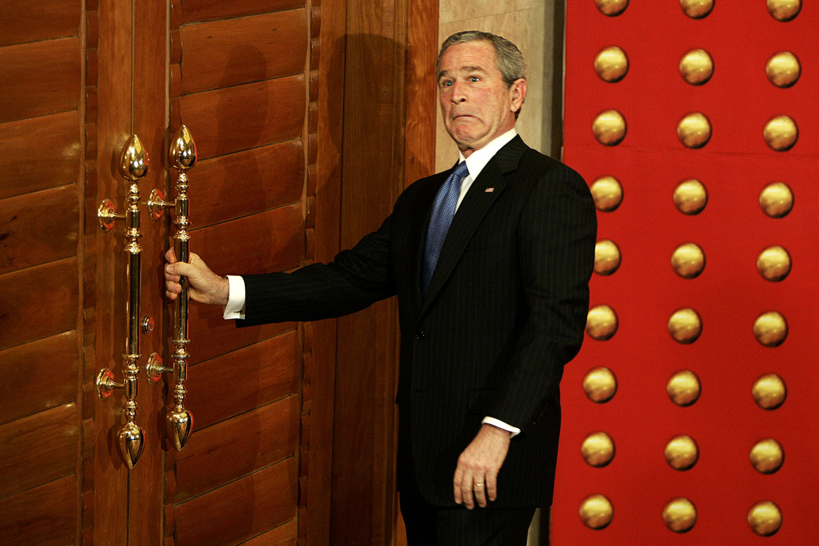 george w bush door