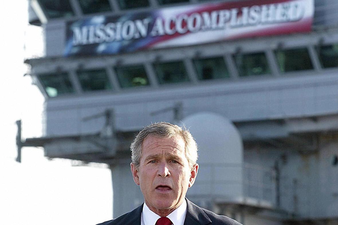 george w bush mission accomplished