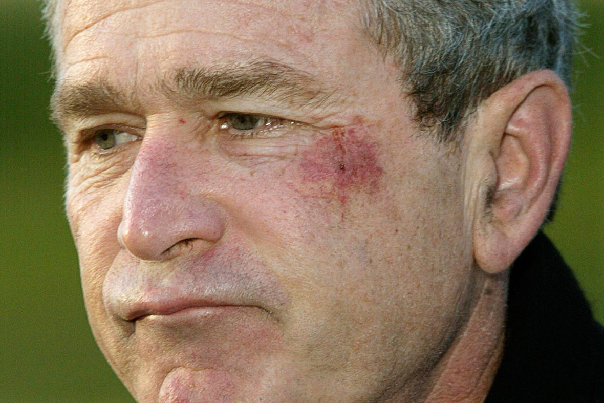 george w bush pretzel