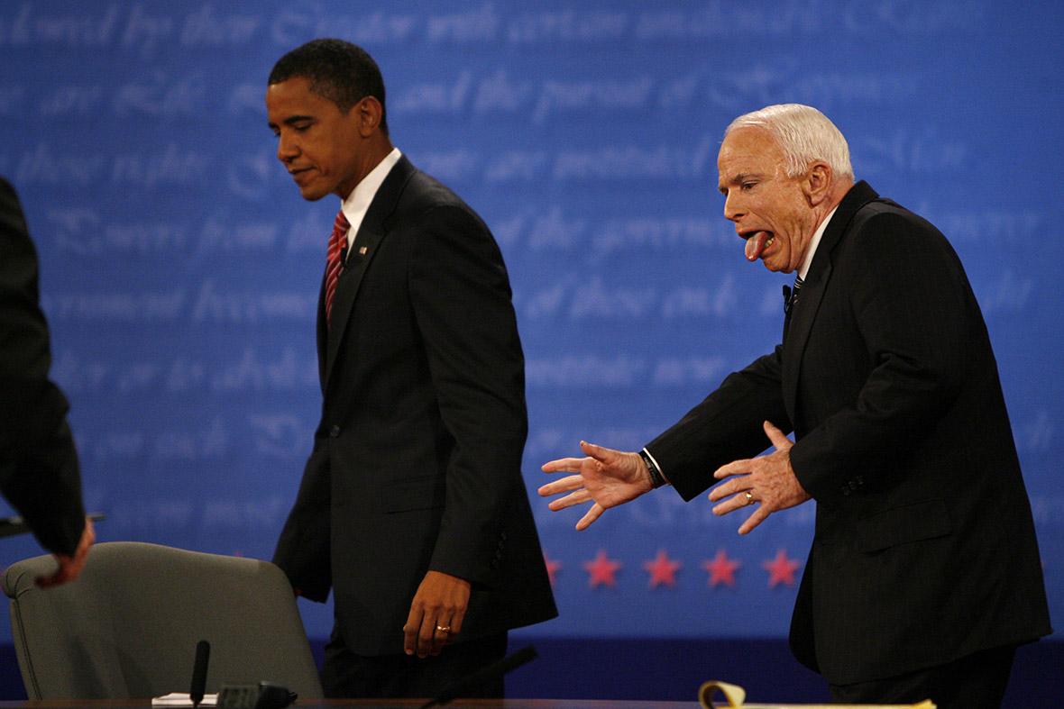 mccain weird photo obama